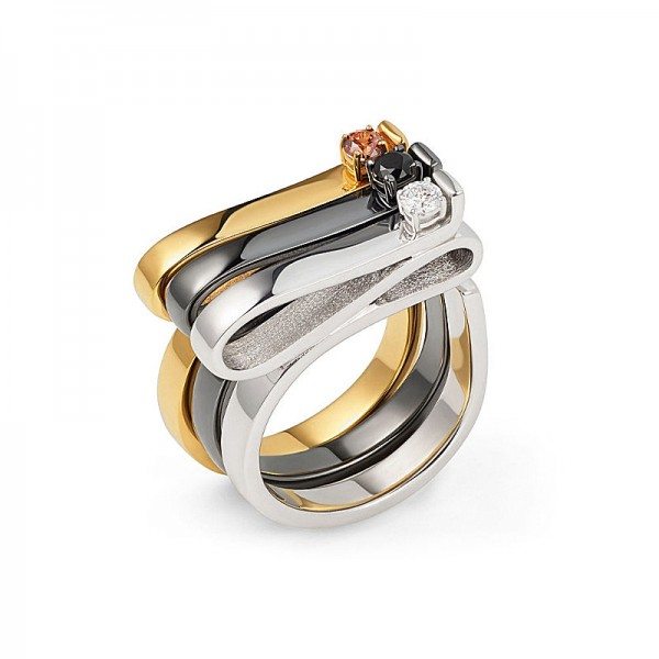 SOLITAIRE RIBBON RING